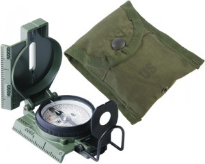 Lensatic Compass with carrying case