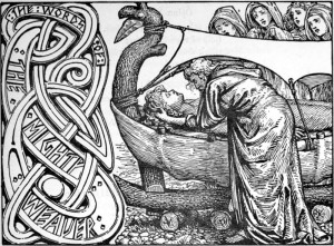 Odin's last words to Baldr by W. G. Collingwood. 1908