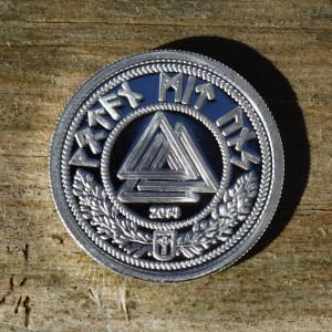 25 Futhmark 1/2 Ounce Silver medallion.