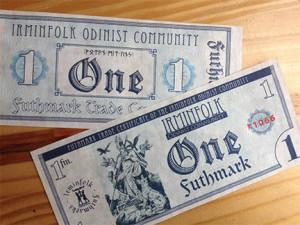 Prototype Futhmark paper certificates